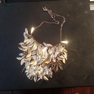 Banana Republic adjustable gold leaf necklace